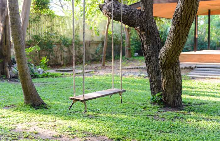best way to hang a swing from a tree